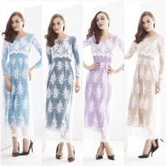 image of NJ SEOUL Joint Korea Elegant HighQuality Lace Modern Jubah Dress