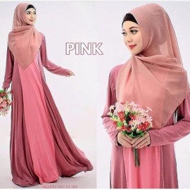 image of NJ SEOUL 2 IN 1 DuoTones Basic One Pieces Jubah Dress (With shawl)