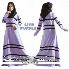 image of READY STOCK❗ NJ ExclusiveCollections Elegant Lining Design Modern Jubah Dress