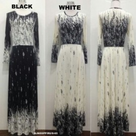 image of READY STOCK❗ NJ SeoulFashion Flower Printed Jubah Dress
