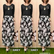 image of READY STOCK❗ NJ SEOUL 2 IN 1 Basic Top with Floral Design Skirt