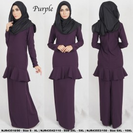 image of READYSTOCK NJBoutique RTW Exclusive Baju Kurung Collections PURPLE