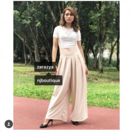 image of NJ Fashion Trendy Jumpsuit with Side Zip Jumpsuit + Top