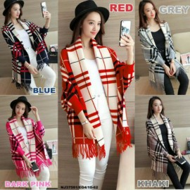 image of NJ Fashion Elegant Checker Cardigan