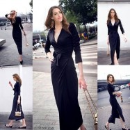 image of NJ Europe Fashion Elegant Maxi Dress