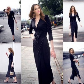 image of NJ Europe Fashion Elegant Maxi Dress