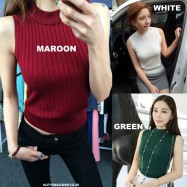 image of NJ Fashion Trendy Sleeveless Knit Top