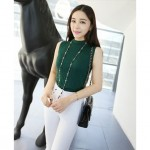 NJ Fashion Trendy Sleeveless Knit Top