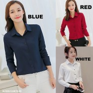 image of NJ Fashion Stylish Collared Button Top
