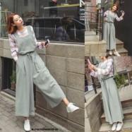 image of NJ Fashion Stylish Waist String Jumpsuit