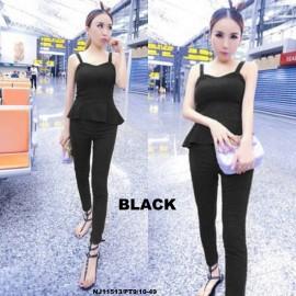 image of NJ Europe Fashion Trendy Jumpsuit (BLACK)