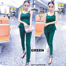 image of NJ Europe Fashion Trendy Jumpsuit (GREEN)