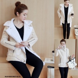 image of NJ Fashion Lovely Winter Coat Khaki
