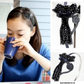 image of NJ Accessories Fashion Pretty Beads Cat Shape Hair Band