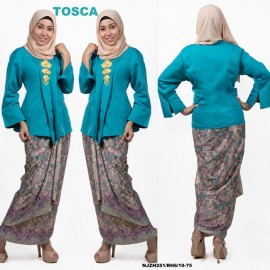 image of READY STOCK NJ Fashion Traditional kebaya with Self Tied Printed Sarong (TOSCA)