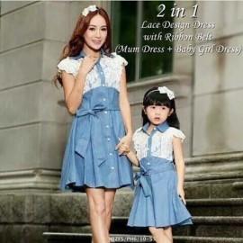 image of Mum Dress + Baby Girl Dress