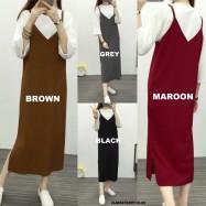 image of NJ Fashion Cami Slit Maxi Dress FREE Inner Top