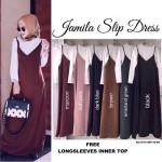 NJ Fashion Hot Selling Trendy Slit Dress (FREE White Long Sleeves Inner Top)