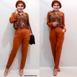 image of SALE 3 IN 1 Leopard Design Top with Long Pants