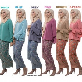 image of NJ ExclusiveCollections Kurung Modern Style With Self Tied Sarong