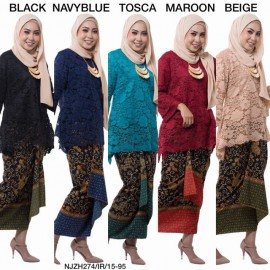 image of NJ ExclusiveCollections Classic Kurung Modern Style with SelfTied Printed Sarong