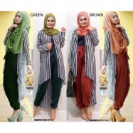image of CLEARANCE SALE 4 IN 1 Hijaber Stripes Set