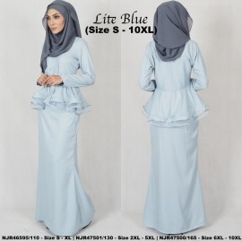 image of READYSTOCK NJBoutique.RTW Exclusive Baju Kebaya Collections - LITEBLUE