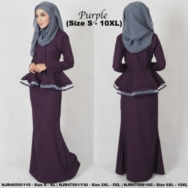 image of READYSTOCK NJBoutique.RTW Exclusive Baju Kebaya Collections - PURPLE