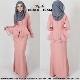image of READYSTOCK NJBoutique.RTW Exclusive Baju Kebaya Collections - PINK