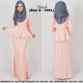 image of READYSTOCK NJBoutique.RTW Exclusive Baju Kebaya Collections - PEACH