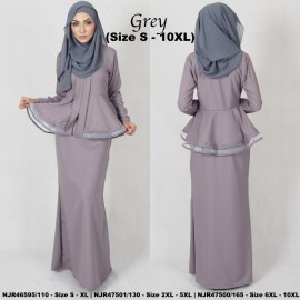 image of READYSTOCK NJBoutique.RTW Exclusive Baju Kebaya Collections - GREY
