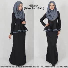 image of READYSTOCK NJBoutique.RTW Exclusive Baju Kebaya Collections - BLACK