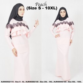 image of READYSTOCK NJBoutique.RTW Exclusive Baju Kurung Collections - PEACH
