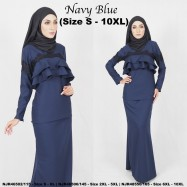 image of READYSTOCK NJBoutique.RTW Exclusive Baju Kurung Collections - NAVY BLUE