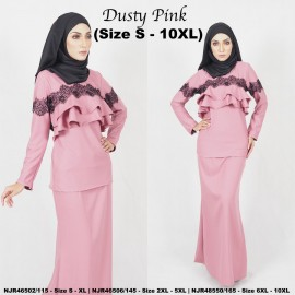 image of READYSTOCK NJBoutique.RTW Exclusive Baju Kurung Collections - DUSTYPINK