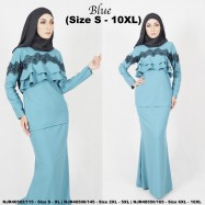 image of READYSTOCK NJBoutique.RTW Exclusive Baju Kurung Collections - BLUE