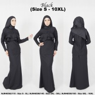 image of READY STOCK - NJBoutique.RTW Exclusive Baju Kurung Collections - BLACK