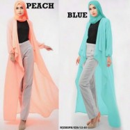 image of NJ 4 IN 1 Asymmetric Long Cardigan + Long Sleeve Inner Top with Pants + Shawl