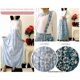 image of CLEARANCE SALE NJ SeoulFashion Sweet Sakura Printed Long Strap Jubah Dress