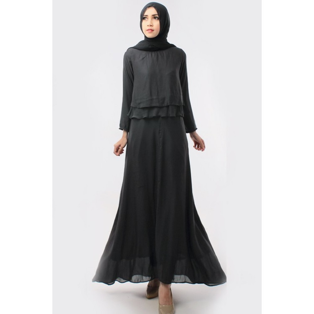 CLEARANCE SALE 3 IN 1 Double Layer Top With Long Inner Dress