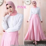 NJ 3 IN 1 Front Button Blouse+Flared Satin Long Skirt +Shawl