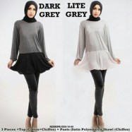 image of NJ 3 IN 1 Stylish Joint Blouse With Pants (Including Shawl)