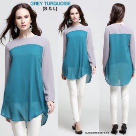 image of NJ ModernMuslimah Joint Color Blouse