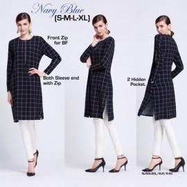 image of NJ ModernMuslimah Checkers Tunic Blouse