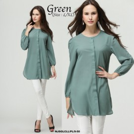 image of NJ ModernMuslimah Puffy Button Blouse