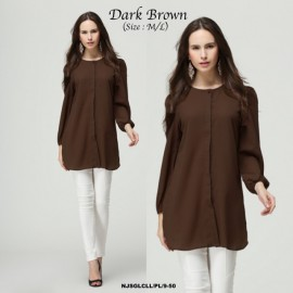 image of Korea NJ ModernMuslimah Puffy Button Blouse