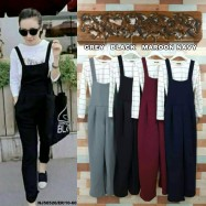 image of READYSTOCK NJ Fashion Trendy Jumpsuit with FREE Inner Top (Plain/Stripe)