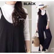 image of READYSTOCK NJ Fashion Hotselling Trendy Jumpsuit (FREE LongSleeves Inner Top)