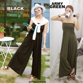 image of READYSTOCK NJ EuropeFashion Trendy Tube Palazzo Jumpsuit