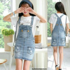 image of READY STOCK NJ DenimFashion Trendy Jumpsuit Dress
